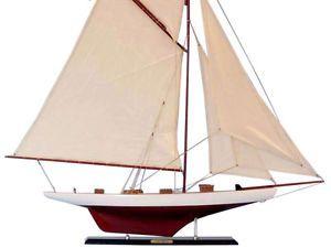 Columbia 42 Wood Sailboat Model Large Sailing Boat Decor