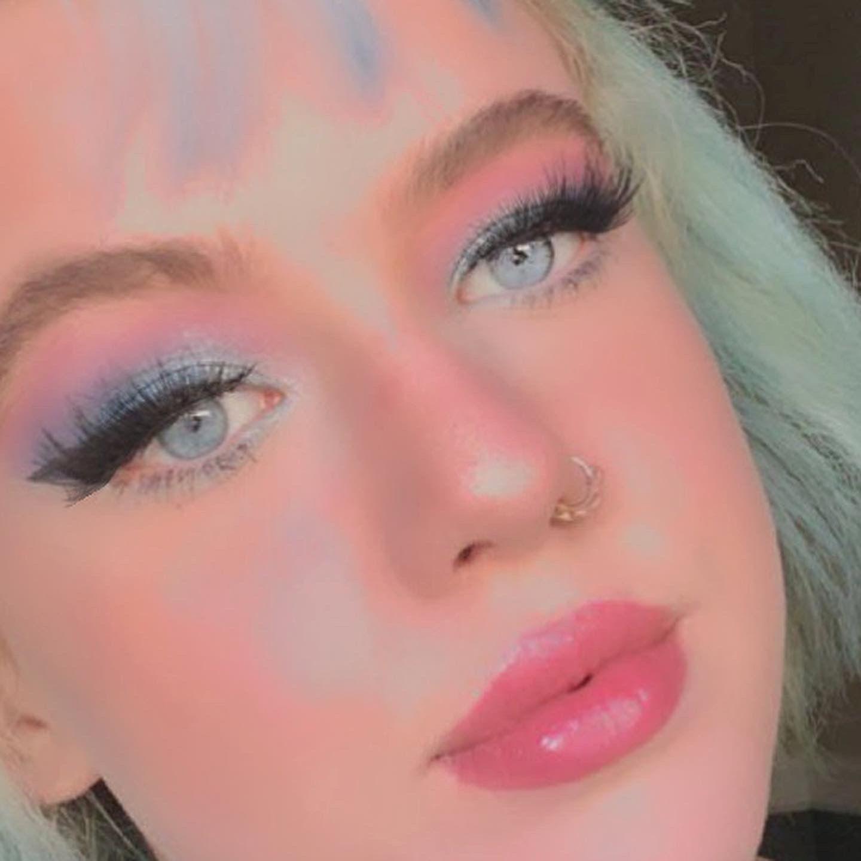 E Girl Makeup In 2020 Blue Eye Makeup Girls Makeup Blue Makeup