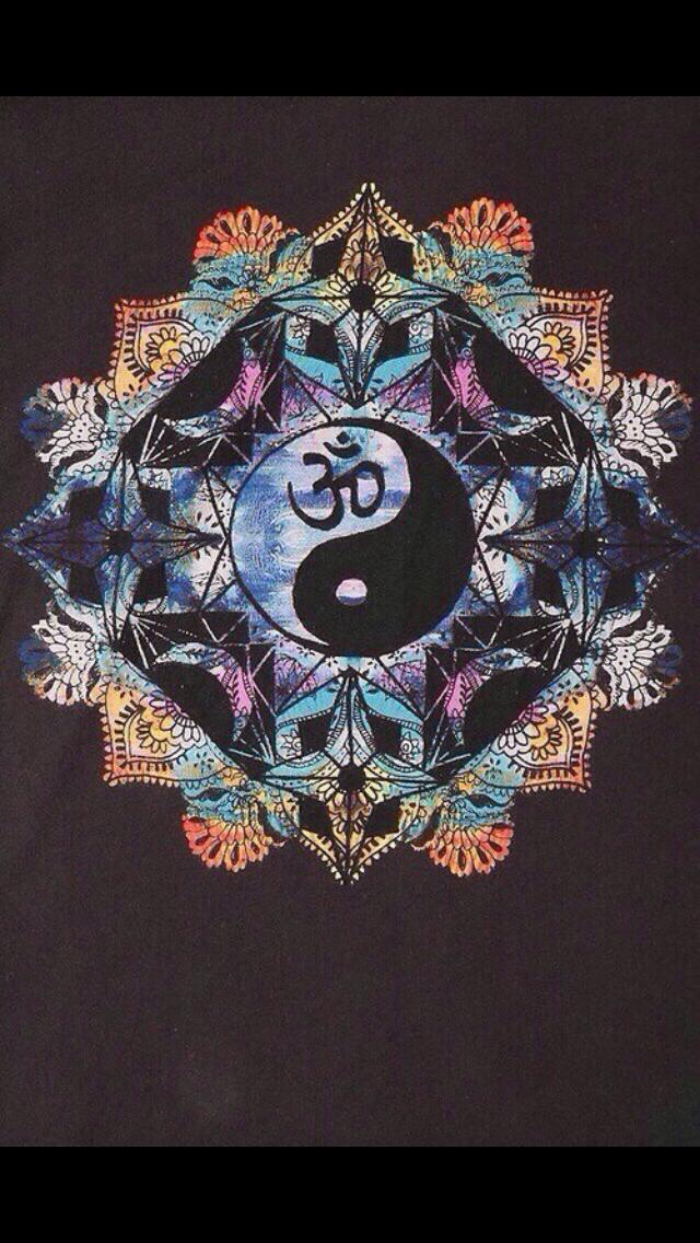 iphone wallpaper hippie boho indie yin yang rainbow zen ...