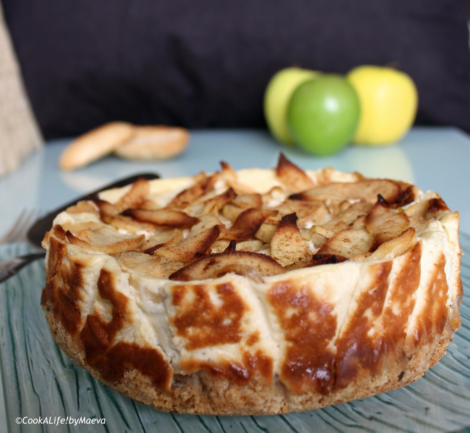 Cheesecake rustique aux pommes / Rustic apple cheesecake ...