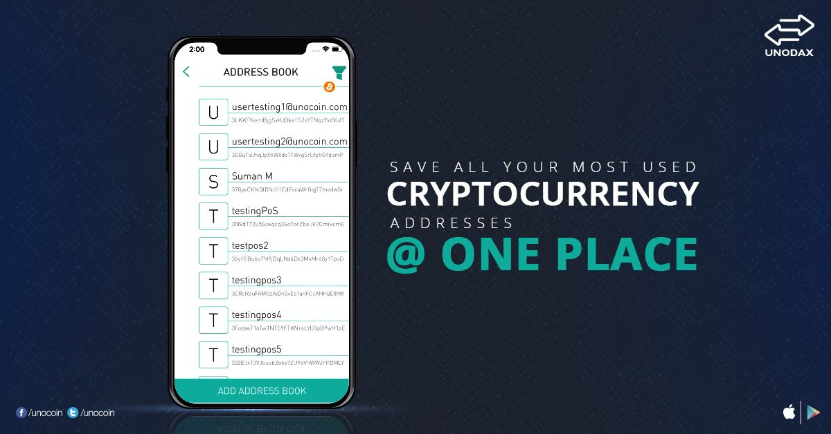 Unodax made address book easier for you to save all your