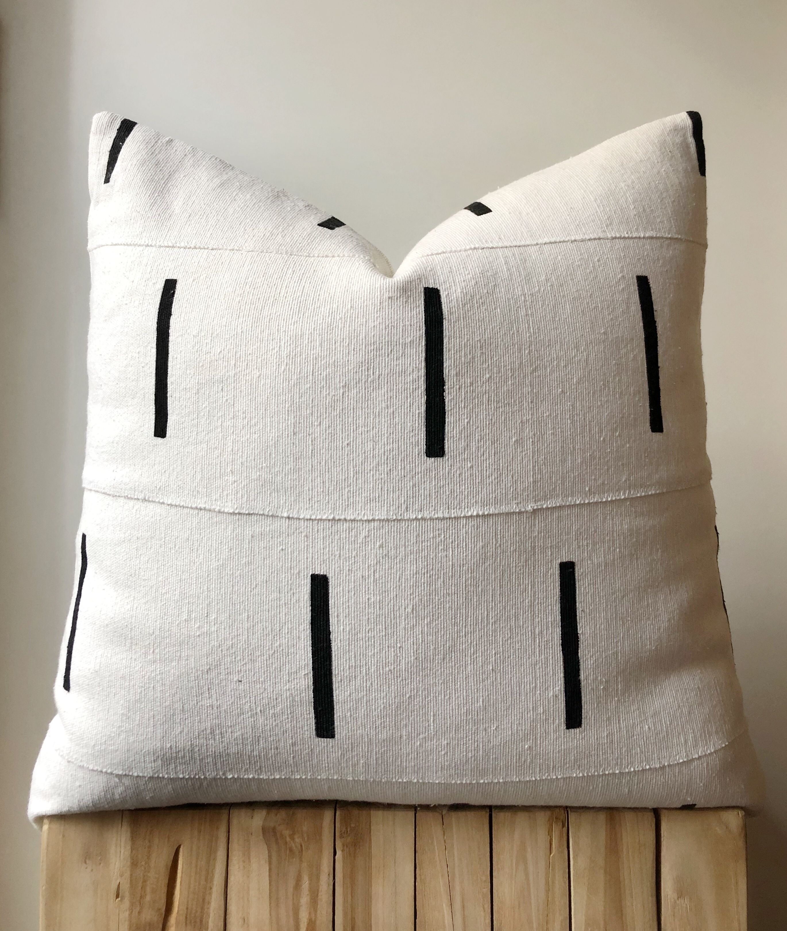 Black and white mudcloth cushions | Boho pillows  | Aztec House