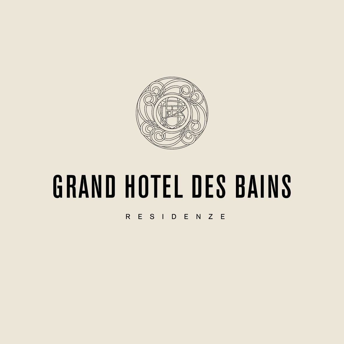 Logo for Grand Hotel Des Bains, luxury private residential building ...