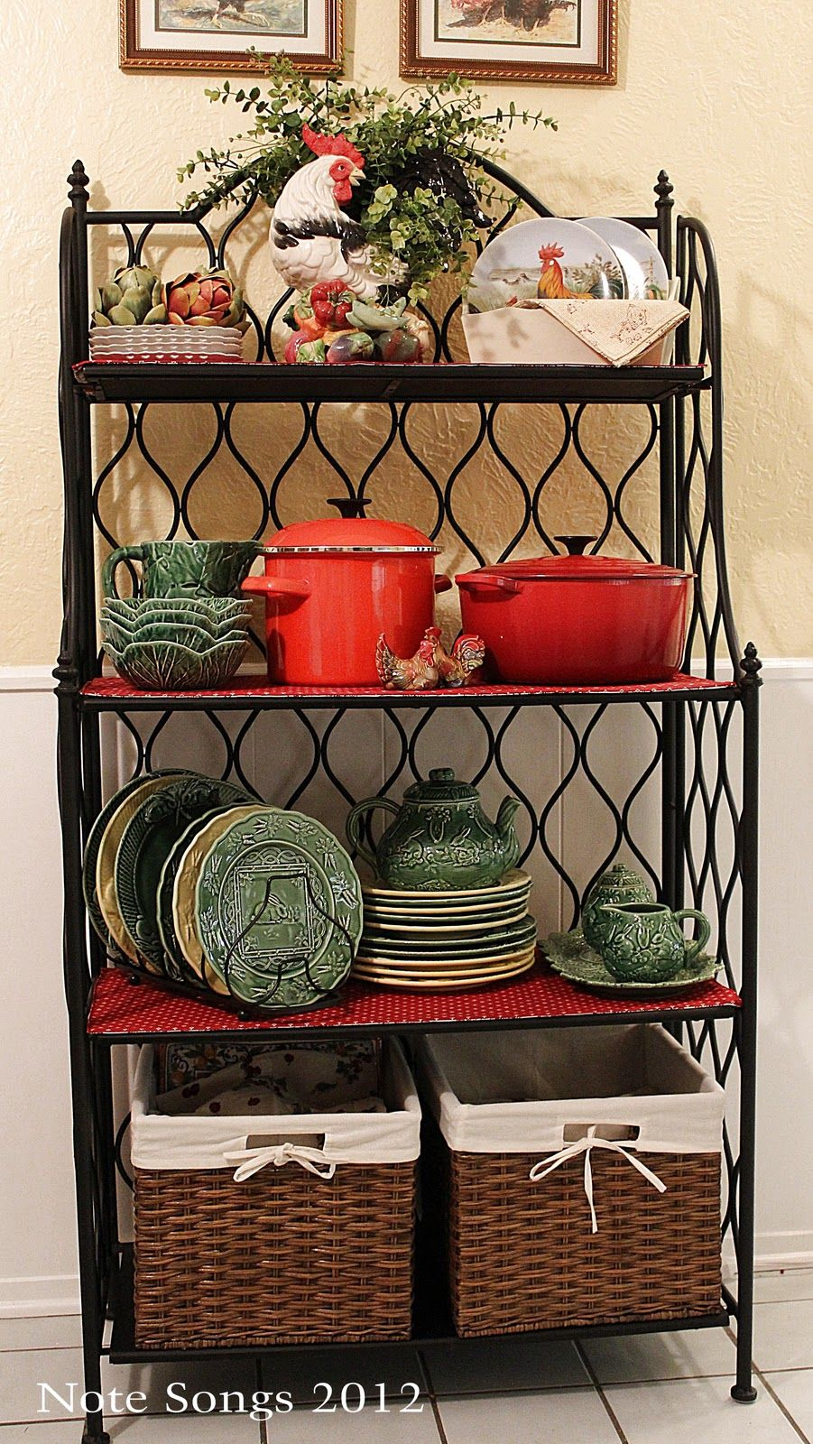 A New Toy Bakers Rack Decorating Bakers Rack Decor