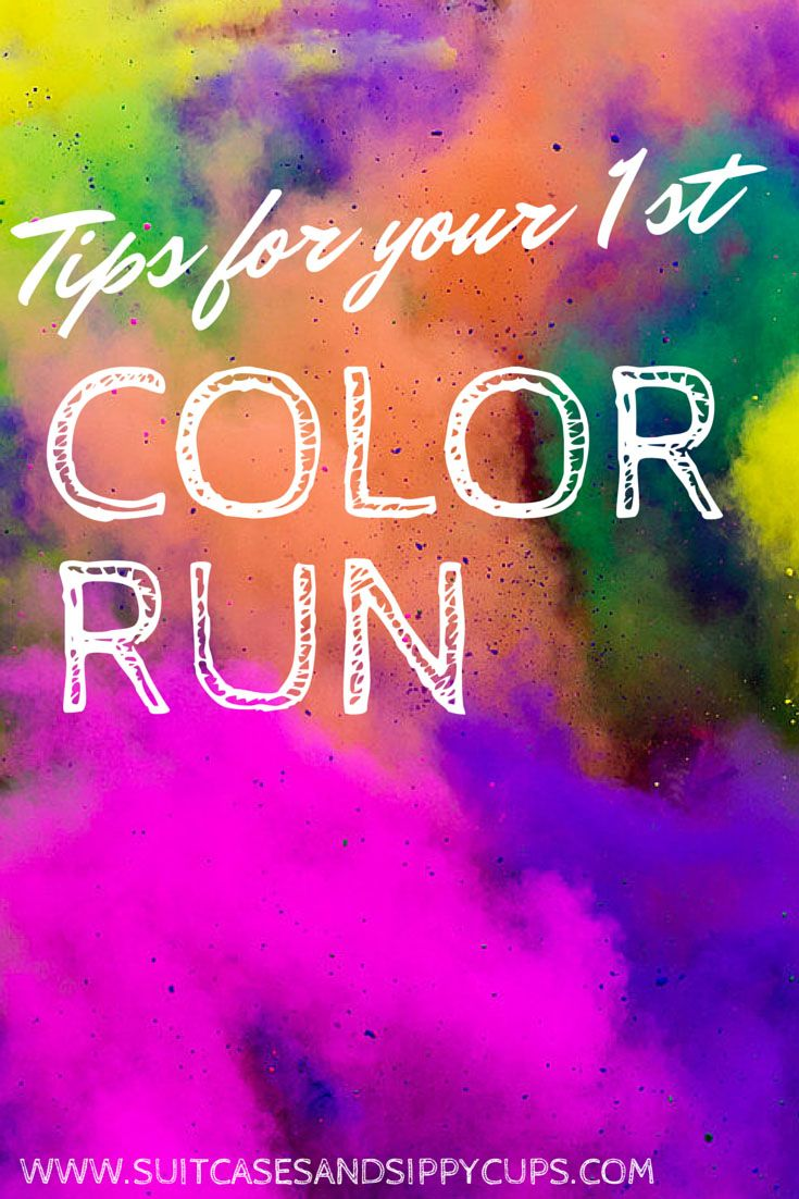 tips for first color run