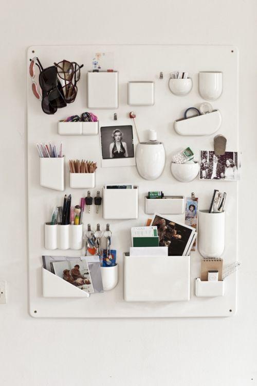 Very Modern Office Wall Organization
