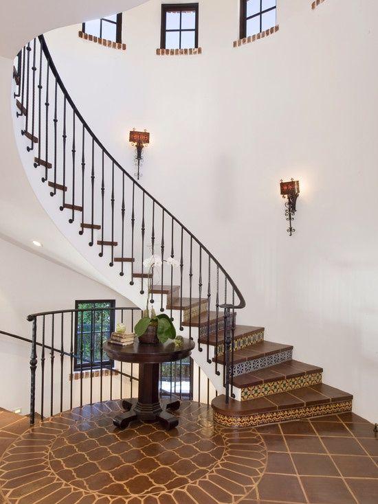 Floating Staircase W Wrought Iron Rail Wred To The Skirt Edge Gorgeous Detail