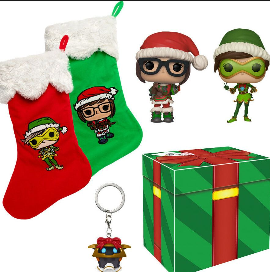 Overwatch Christmas 2019.Funko Overwatch Christmas Exclusive Collector Box Mint