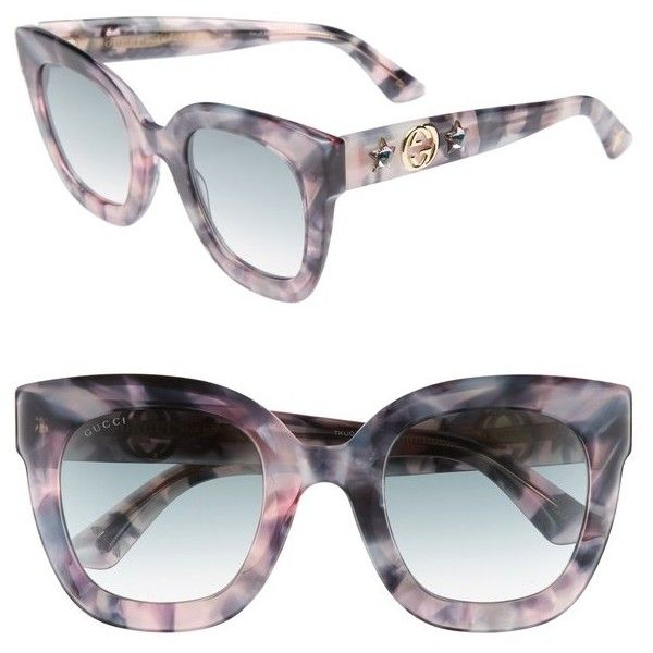 8560d90db7 Women s Gucci 49Mm Cat Eye Sunglasses (€340) ❤ liked on Polyvore featuring  accessories