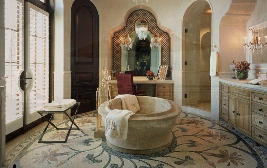 cool round bathtub...