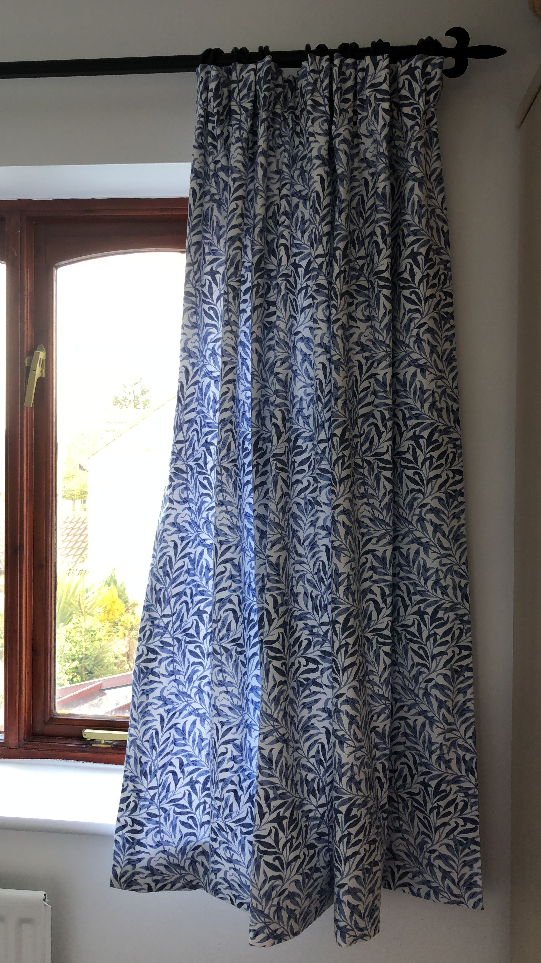 Our William Morris Willow Bough Fabric Made Into Curtains