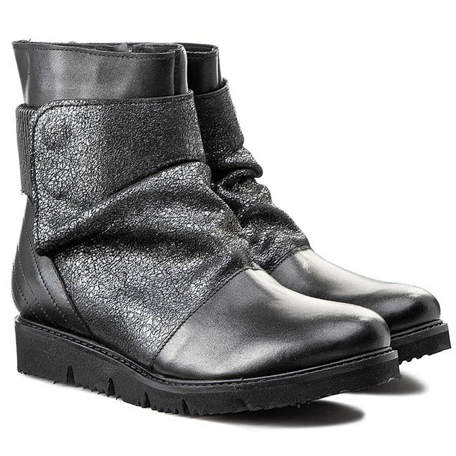 Botki Venezia A42 Pe Cr Nero Boots Biker Boot Shoes