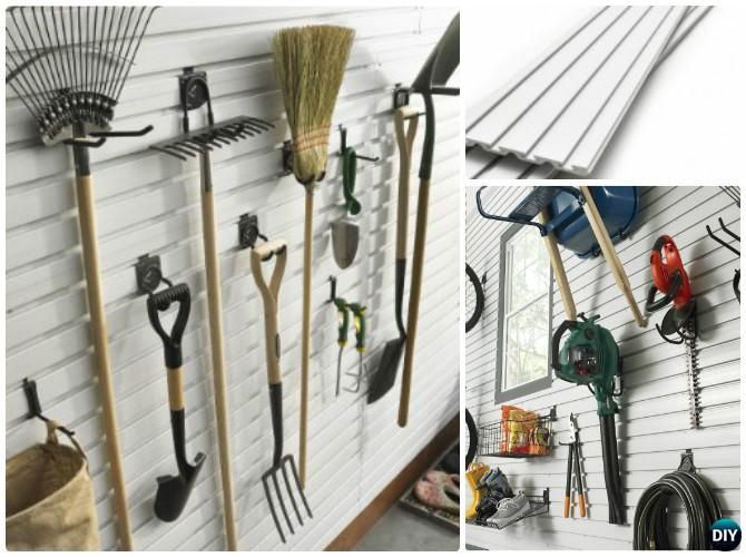 DIY Wall Panel Garden Tool Rack Organizer Instruction DIY #Garden Tool  Organizer Ideas