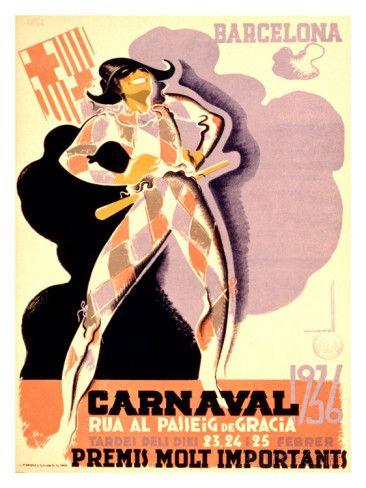 Carnival, 1936 Giclee-vedos tekijänä Tubau AllPosters.fi-sivustossa