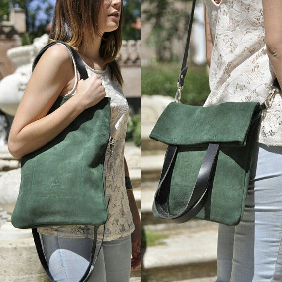 OFFER – Leather bag – MERY model in green leather