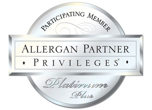 We are an Allergan Platinum Plus provider! That means the