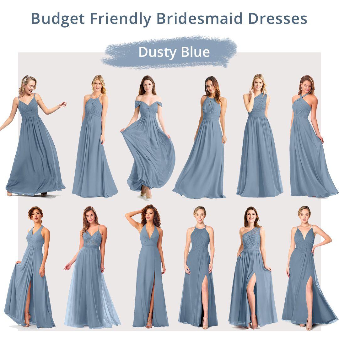 Budget Friendly Bridesmaid Dresses At Azazie In 2020 Dusty Blue Bridesmaid Dresses Bridesmaid Dresses Spring Bridesmaid Dresses