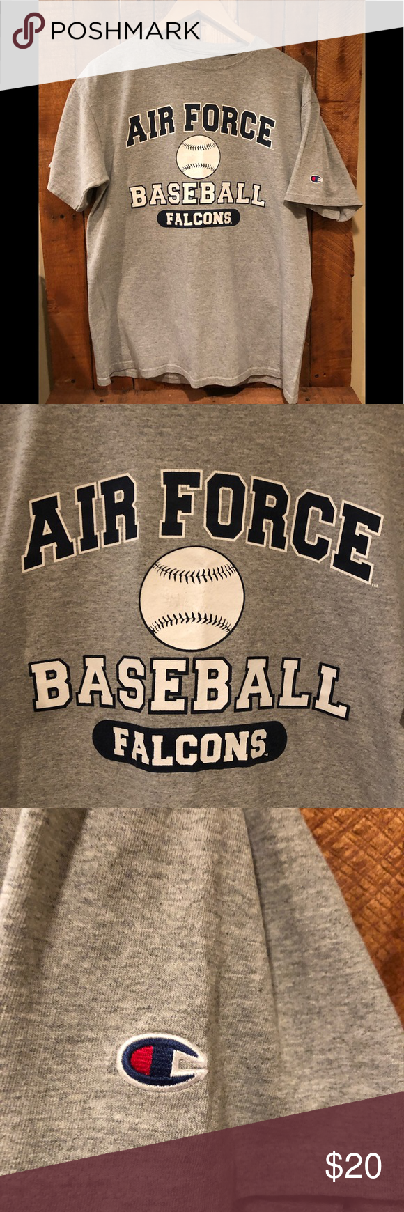 Air Force Academy Baseball T Shirt Size L Falcons Baseball Season Is Underway Show Your Support With This Champion Athletic T Shirt Baseball Air Force Academy Baseball Season