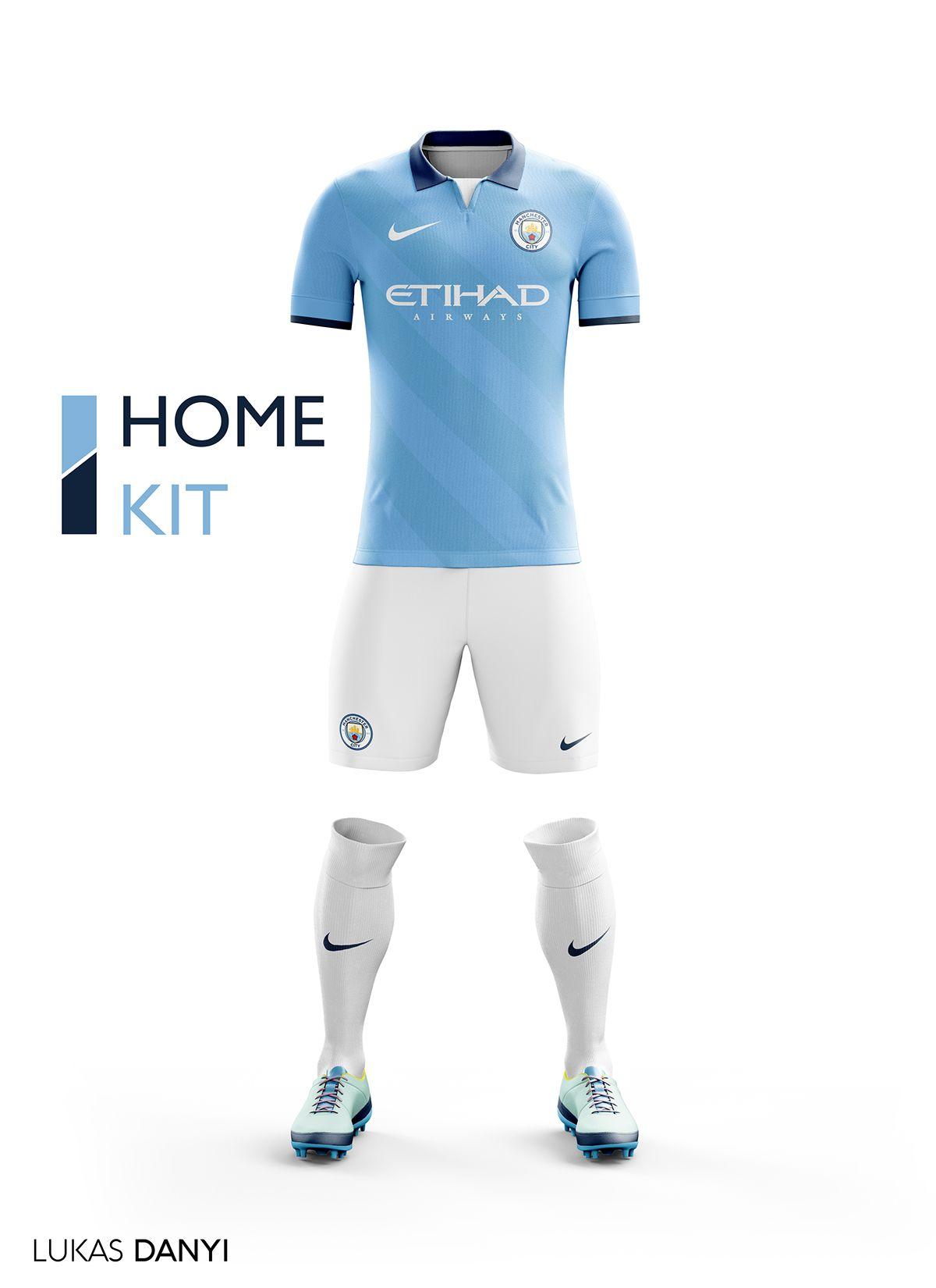 I Designed Football Kits For Manchester City For The Upcoming Season 16 17 And I Use The New Logo Camisa De Futbol Uniformes De Futbol Camisetas Deportivas