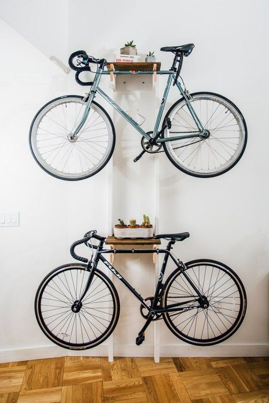 Diy Bicycle Rack Built For Two Apartment Storage Diy Diy Bike Rack Bike Storage Apartment