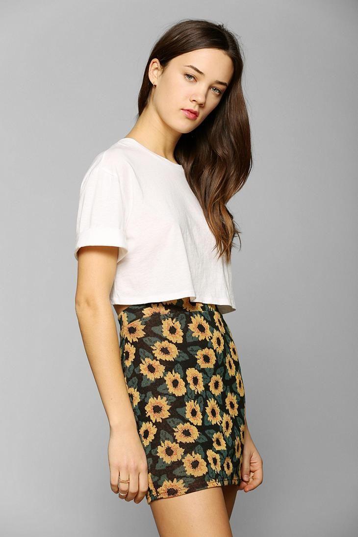 b7cea6b68fb5 Kimchi Blue Sunflower Jacquard Mini Skirt   New Arrivals   Mini ...