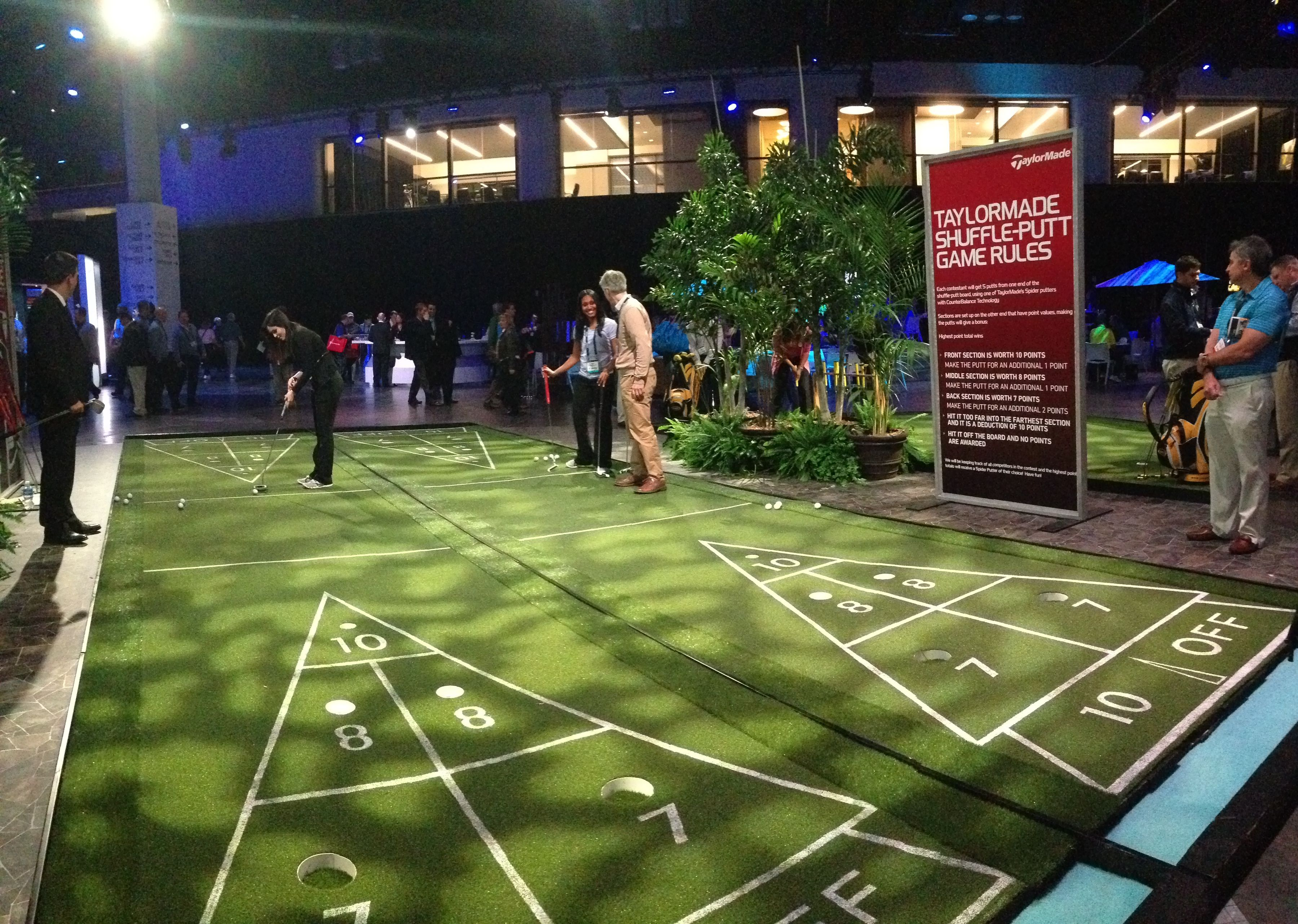 Taylormade golf booth shuffle putt enjoyed playing this at the pga golf show 2014
