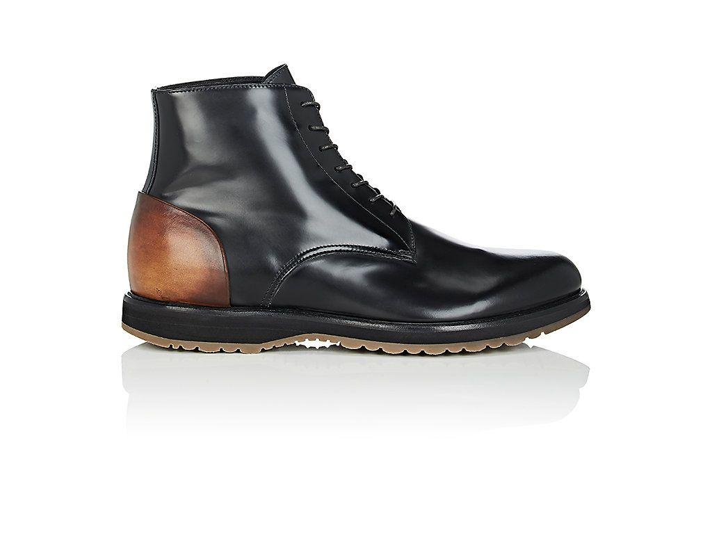Mens Contrast-Counter Leather Boots Franceschetti URcmBCEK