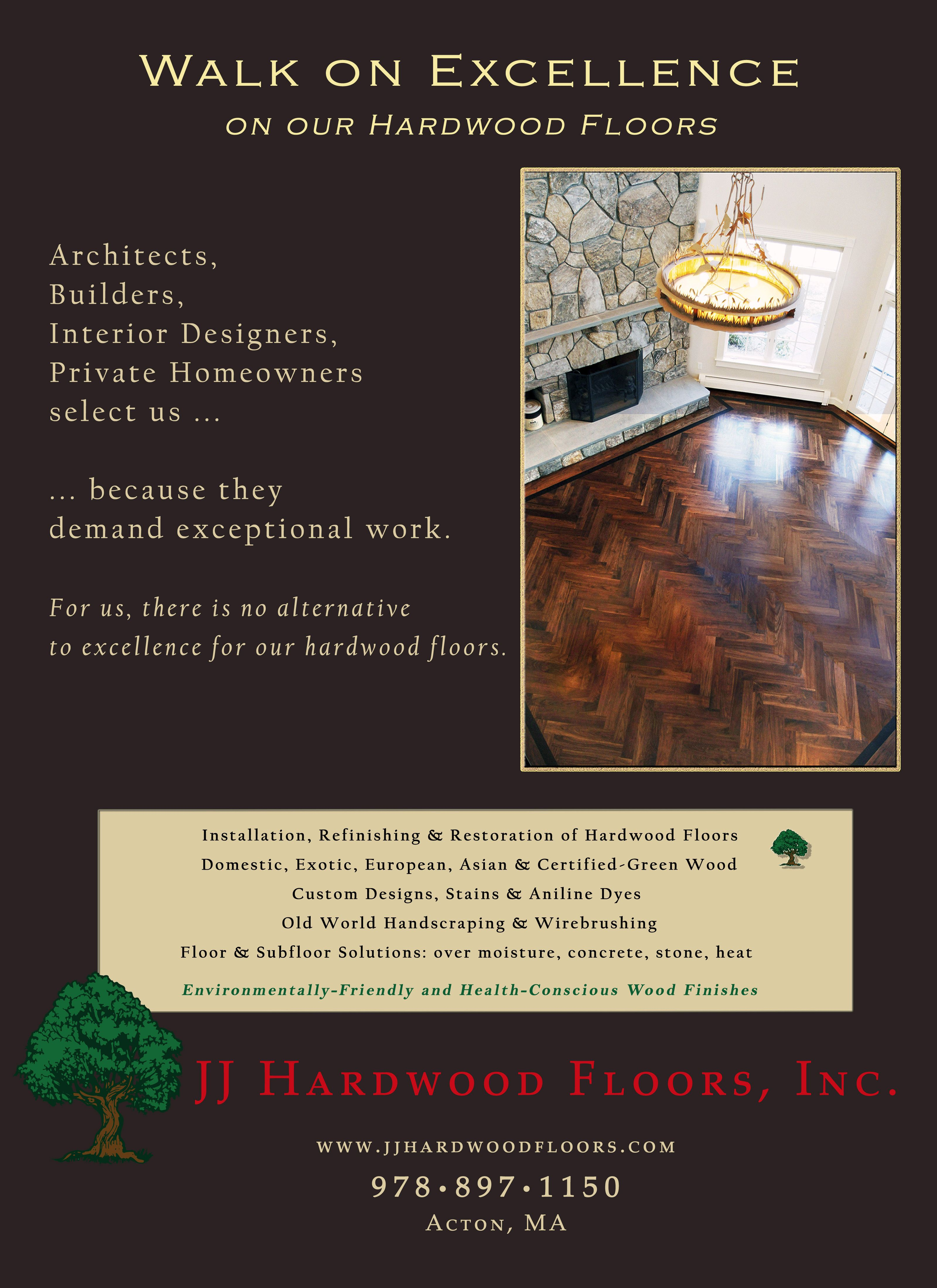 Print advertisement Green wood, Homeowner, Custom design