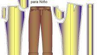 Moldes de Pantalon Infantil