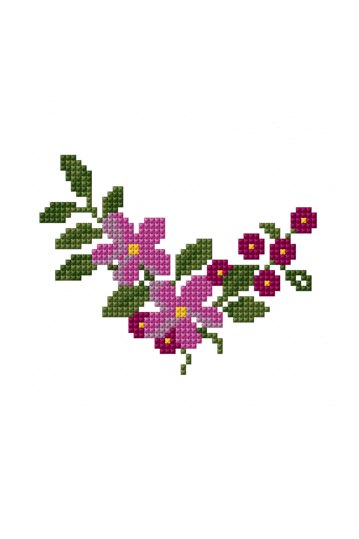 Mini bouquet   cross stitch / embroidery / crochet   Pinterest ...