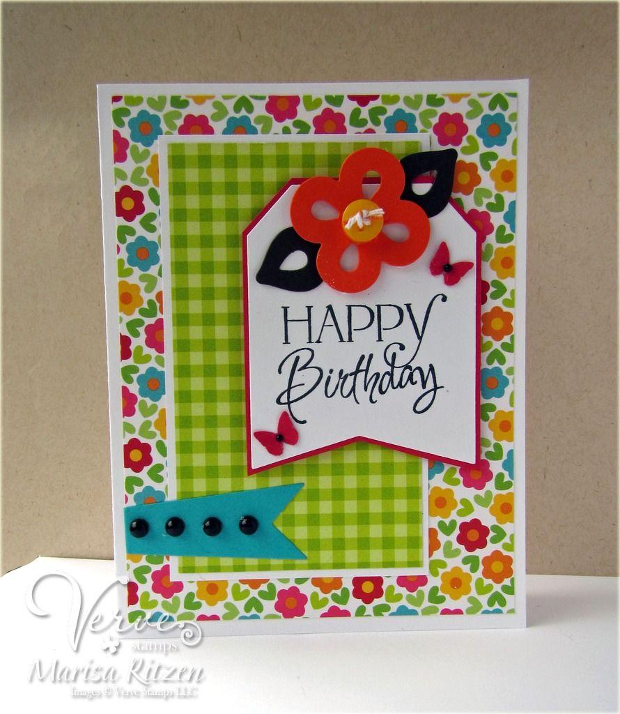 Handmade Birthday Card By Marisa Ritzen Using The Happy Birthday