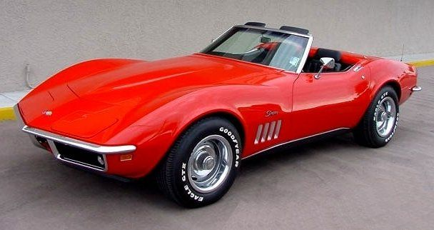 1969 Chevrolet Corvette Stingray But Black Hard Top White Interior