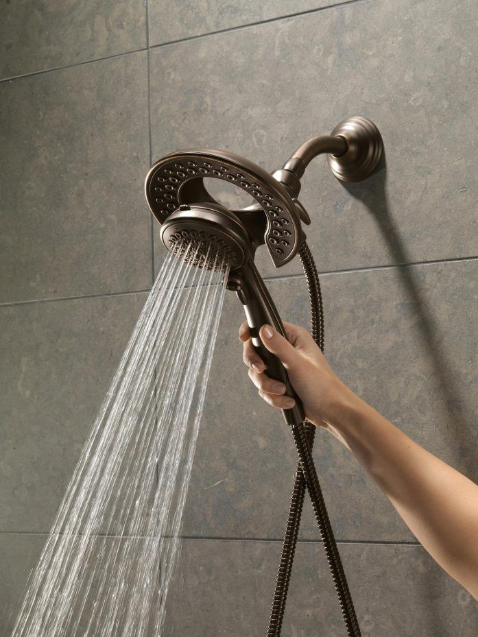 Lower Shower Head Delta In2ition Showers Feature A Showerhead And ...