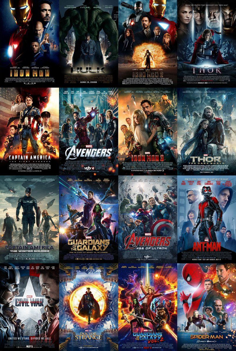 All Avengers Movie Posters