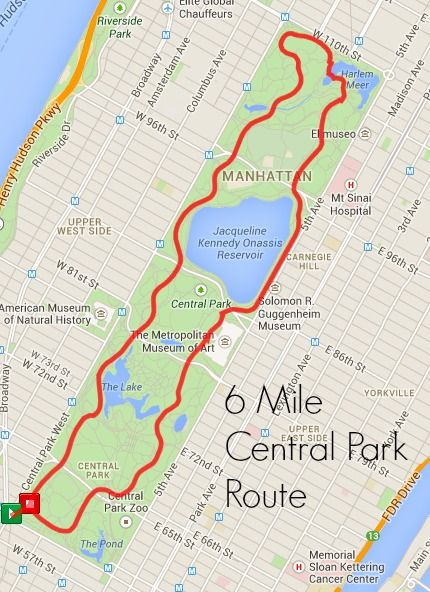 Wonderbaar Best Central Park Running Routes | Central park, Central park map HJ-76