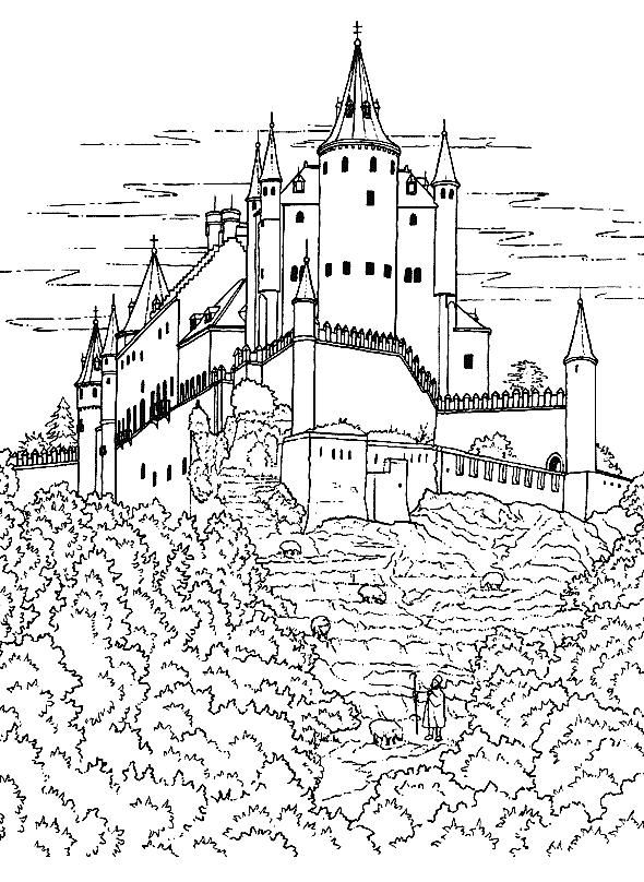 castles_18 Castles coloring pages for teens and adults | Coloring ...