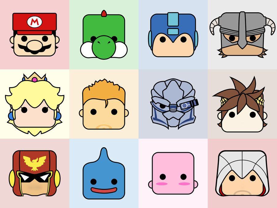 Video Game Avatars Ii By Onmaru Game Character Video