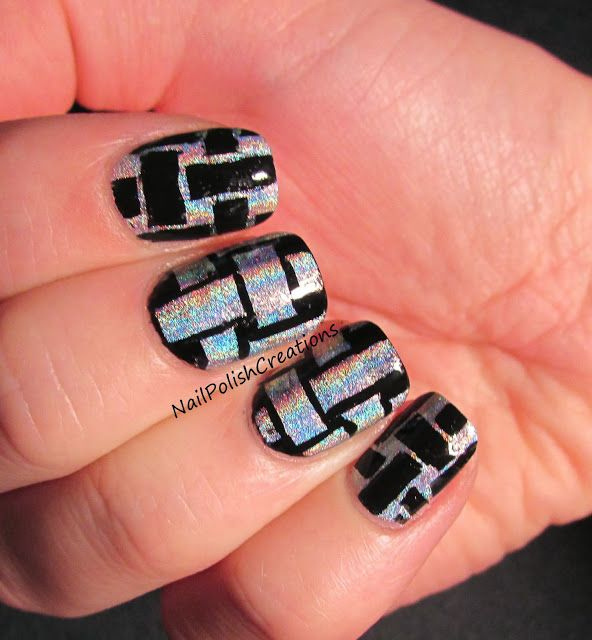 Inspired by a Tutorial #31DC2013 Mani. Basket Weave