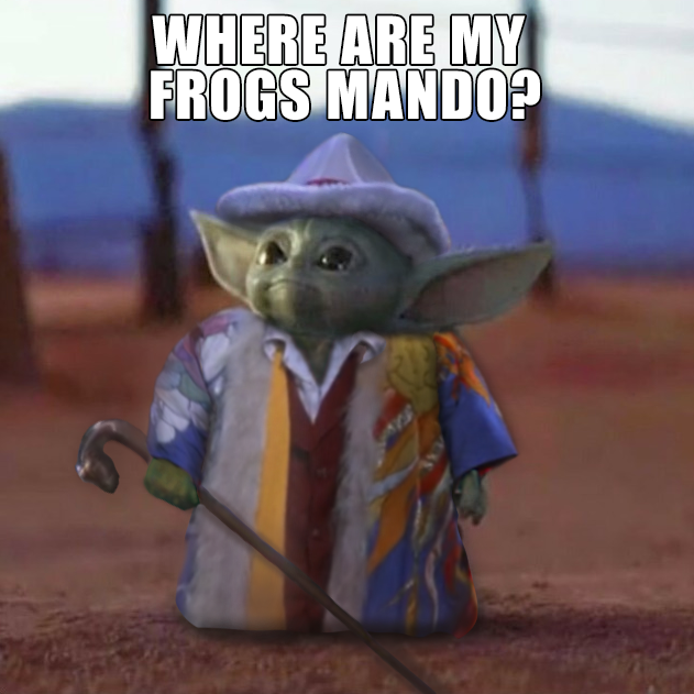 Big Pimpin Baby Yodes Comes To Collect R Babyyoda Baby Yoda Grogu Star Wars Humor Yoda Images Yoda