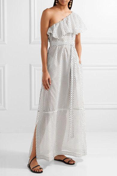 Arden one-shoulder flounce dress Lisa Marie Fernandez AHs0lTzSsI