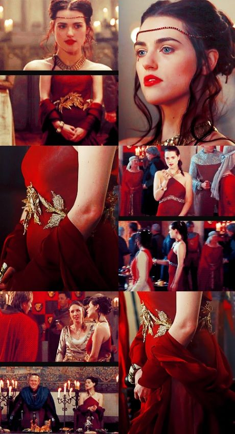 Morgana pendragon red dress