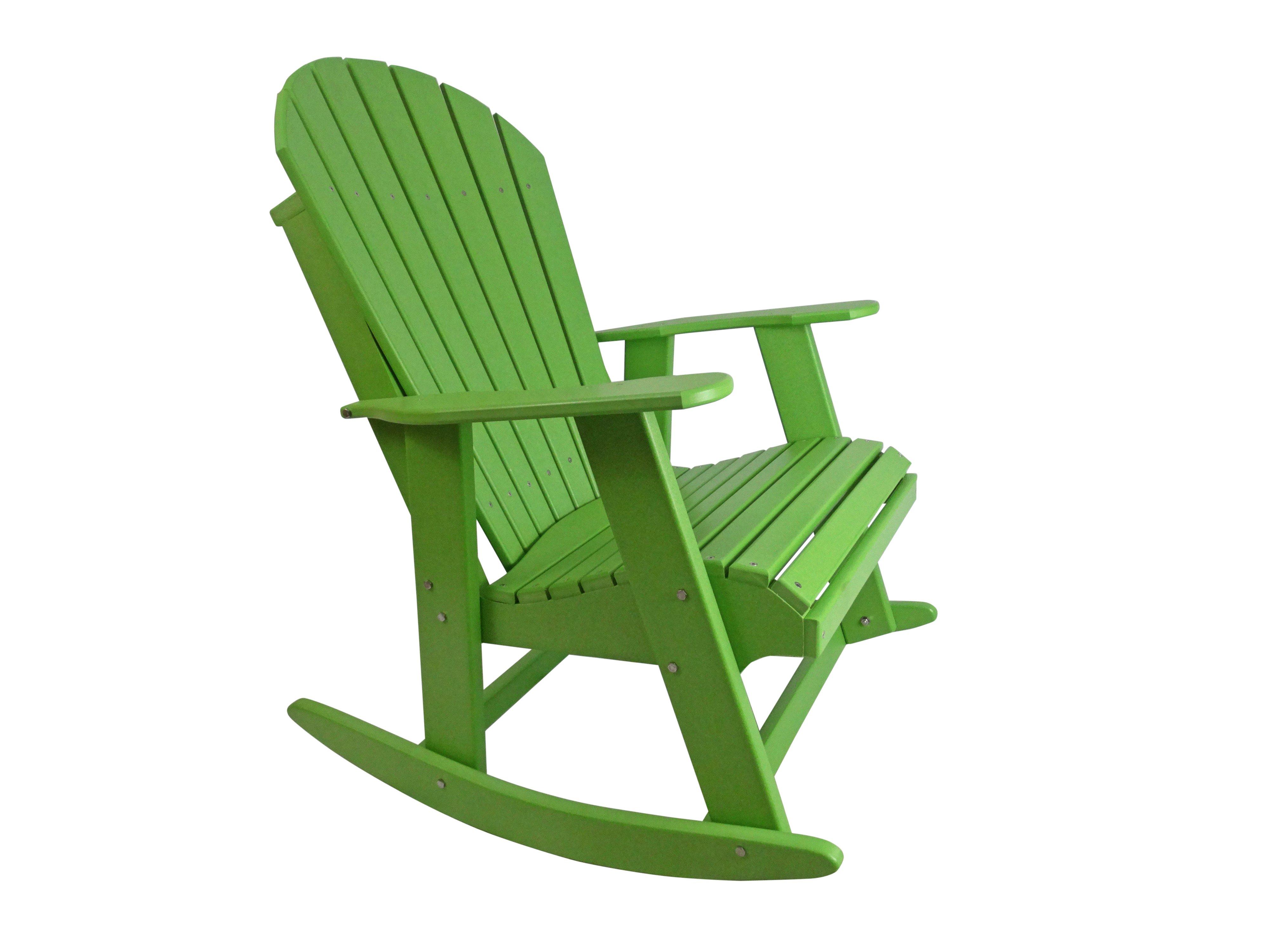 poly adirondack rocking chair rocking chairs and adirondack