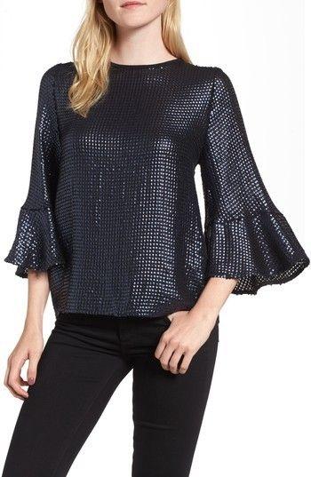 3fc5bd2245a Women's Trouve Sequin Bell Sleeve Top | ملابس خياطه وحياكة | Bell ...