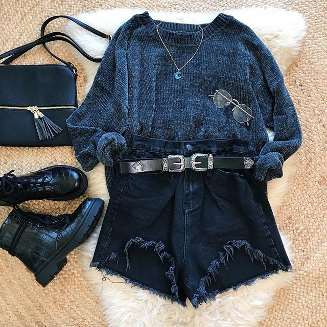 Photo of Wear or tear? 🍒 Amelia Sweater + Forget Me Not Shorts + Uptown Belt + Kimmy Boots + Mari Bag 🌹 Www.bellexo.com👽