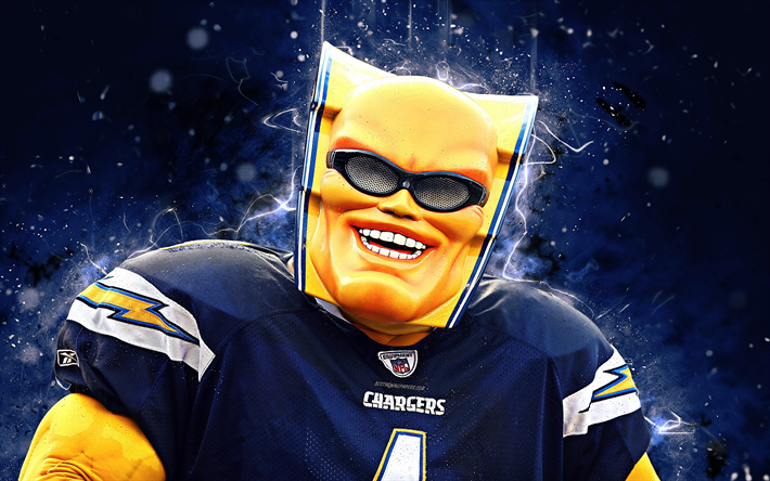 Download Wallpapers Boltman 4k Mascot Los Angeles Chargers Abstract Art Nfl Creative Usa Los Angeles Chargers Mascot National Football League La Charg Los Angeles Chargers National Football League Chargers