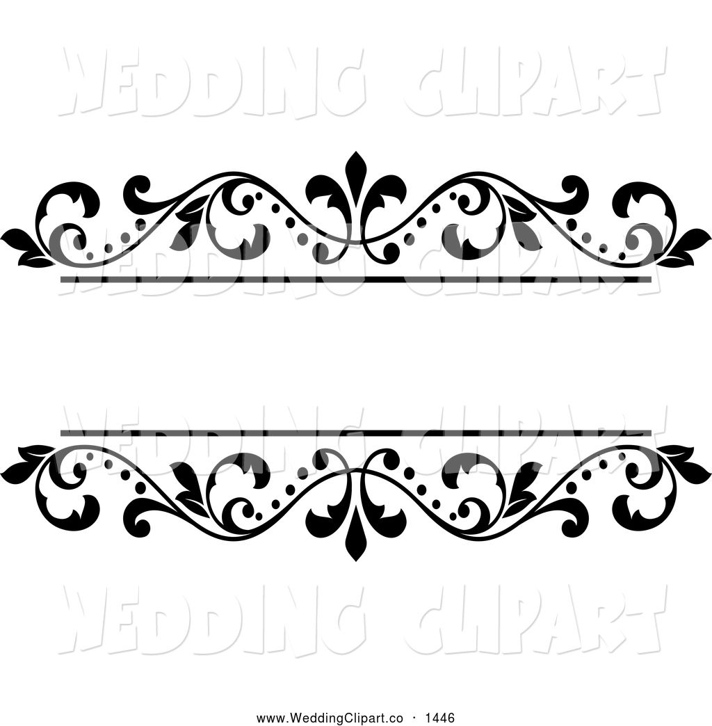royalty free vector bridal clipart of a black and white ornate floral wedding frame description from weddingclipart co i searched  [ 1024 x 1044 Pixel ]