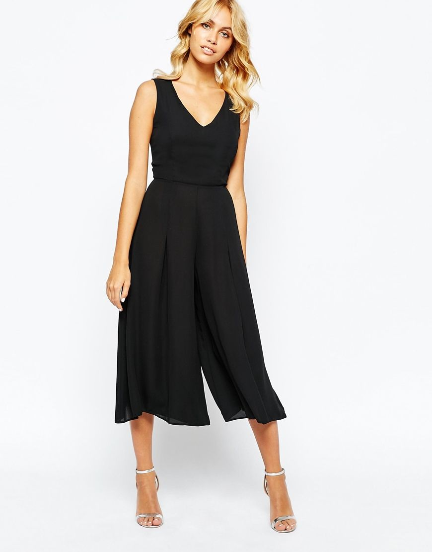 19dcabbe39c7 Image 4 of Love Culotte Jumpsuit in Crepe--use New Look 6262 as top