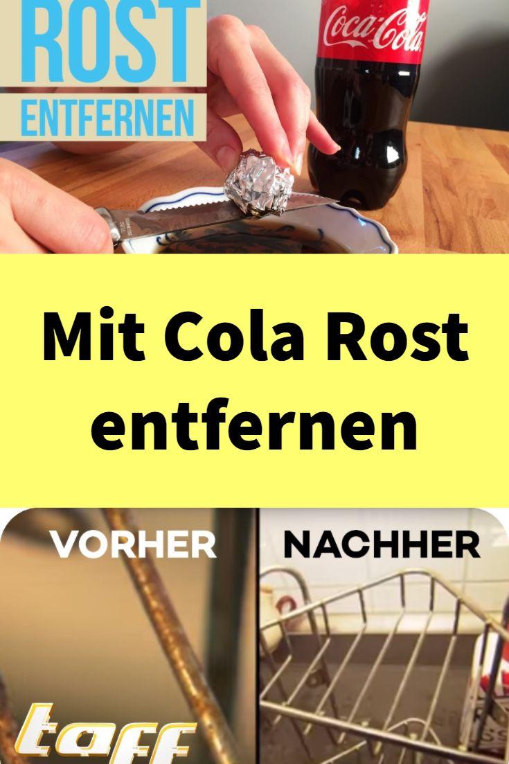 Stimmt es, dass man mit Cola Rost entfernen kann? Ja, denn ...