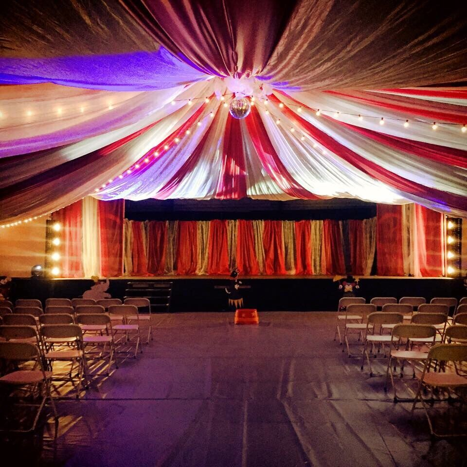 Vintage Carnival Wedding Ideas: Circus Tent Church Event Decor