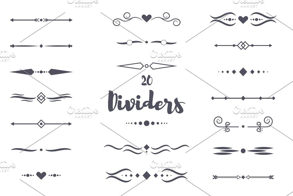 dividers calligraphic style vector divider border frame design